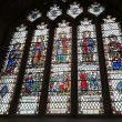 Stained glass window from Bath Abbey, in Bath, Somerset, England — Stock Photo