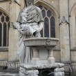 Statue of Water Goddess outside Bath Abbey, England. - ストック写真