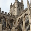 Bath Abbey in England - 图库照片