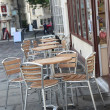 Street cafe in Bath, England — Stock Photo