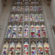 Stained glass window from Bath Abbey, in Bath, Somerset, England - Stok fotoğraf