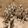 Terracotta Warriors in Xian, China - Stok fotoğraf