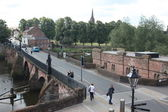 Old Dee Bridge, Chester, UK — Stock Photo