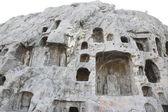 Grotte di uomo-intagliato a luoyang, cina — Foto Stock