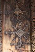 Church door's detail — Стоковое фото