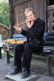 Traditionell musik i norsk folkemuseum i oslo, norge — Stockfoto