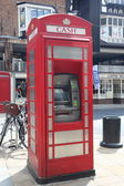 Red tephone box in Chester, UK — Stock Photo