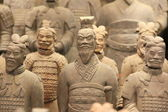 Terracotta krijgers in xian, china — Stockfoto