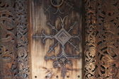 Church door's detail — Stockfoto