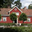 Typical Norwegian house — Stock Photo
