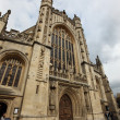 The gothic facade of Bath Abbey, England - Стоковая фотография