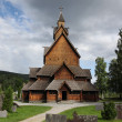 Heddal stave church, Norway - Stok fotoğraf