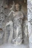 The Big Vairocana and Boddhisatvas in main Longmen Buddha Grotto — Stock Photo