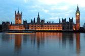 Big ben e le case del Parlamento alla sera, Londra, Regno Unito — Foto Stock