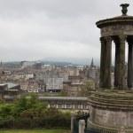 Cityscape of Edinburgh from Calton hill, Scotland, UK — Stock Photo