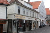 在挪威斯塔万格的老部分街 — 图库照片