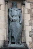 Statue of William Wallace in the castle of Edinburgh — Stock Photo