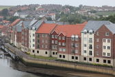 Scenic view of Whitby town, North Yorkshire, England — Stock Photo