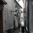 Street in the old part of Stavanger, Norway - Stock Photo