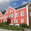Typical norwegian architecture in Stavanger — Stock Photo