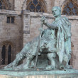 Stock Photo: Bronze statue of Constantine I outside York Minster in England