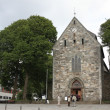 Stavanger Cathedral bulit from 1125 in Anglo-Roman style — Stock Photo