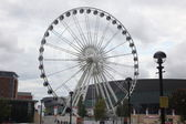Large ferris wheel in Liverpool — Stock Photo