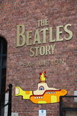 The Beatles Story, Liverpool, England. Exhibition dedicated to the leading 1960s musician group The Beatles — Stock Photo