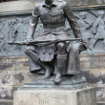 Scottish-American War Memorial in West Princes Street Gardens, Edinburgh — Stock Photo