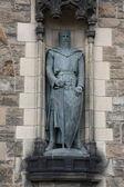 Estatua de william wallace en el castillo de edimburgo — Foto de Stock