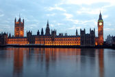 Big Ben and Houses of Parliament at evening, London, UK — Stock Photo