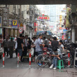 On the streets of Shanghai, China - Stock Photo