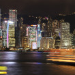 Hongkong at night — Stockfoto