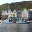 Bergen harbor, Norway - Stock Photo