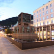 Night Bergen, Norway - Stock Photo