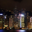 Hong Kong in the night — Stock Photo