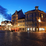 Night in Bergen, Norway — Stock Photo