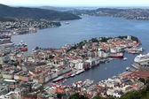 View of Bergen from Mount Floyen, Norway — Stock Photo