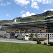 Cruise liner at the Neroyfjord, Norway — Stock Photo