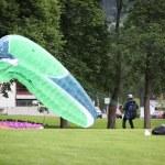 Parachutists landing — Stock Photo #23670841