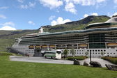 Cruise liner at the Neroyfjord, Norway — Стоковое фото