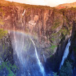 Stock Photo: Waterfall Voringfossen - the fourth highest peak in Norway