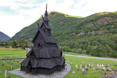 Borgund Stave church. Built in 1180 to 1250 — Stock Photo