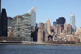 Manhattan, view from Long Island — Stock Photo