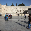 JERUSALEM, ISRAEL - OCTOBER 28: at the Wailing Wall where - Stock Photo