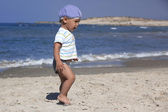 Portrait of a little boy at coast 1-2 year old — Stock Photo