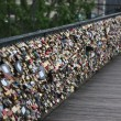 Lockers at Pont des Arts symbolize love for ever — Stock fotografie