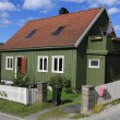 Stavanger Wood House, typical architecture or norweigan style — Stock Photo