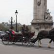 Wagon with horses. Paris — Stockfoto