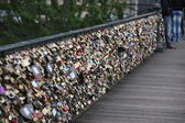 Lockers at Pont des Arts symbolize love for ever — Stock Photo